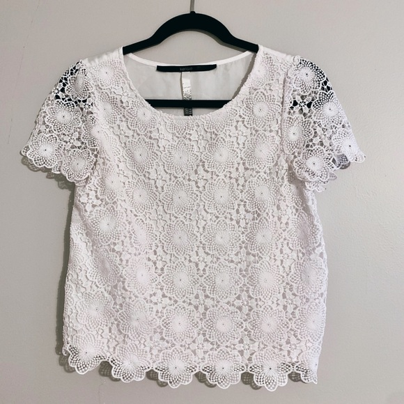 Tops - Lacey White Blouse